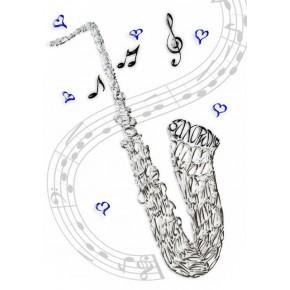 Targeta de la celebració saxofon