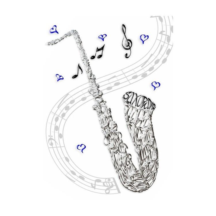 Saxofoon viering kaart