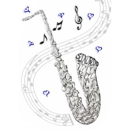 Saksofoni Celebration Card