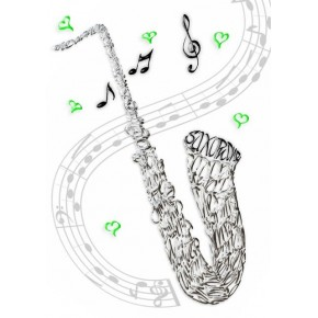 Saxophone Celebration Card