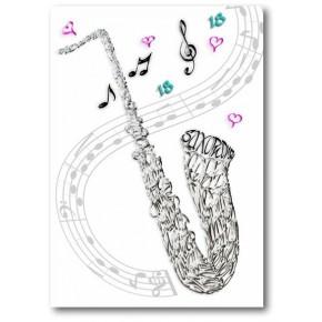 Saksofonin juhlakortti