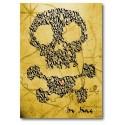 Skull & Crossbones auf einer Schatzkarte