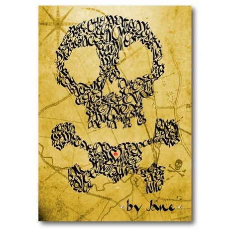 Skull & Crossbones on a Treasure Map