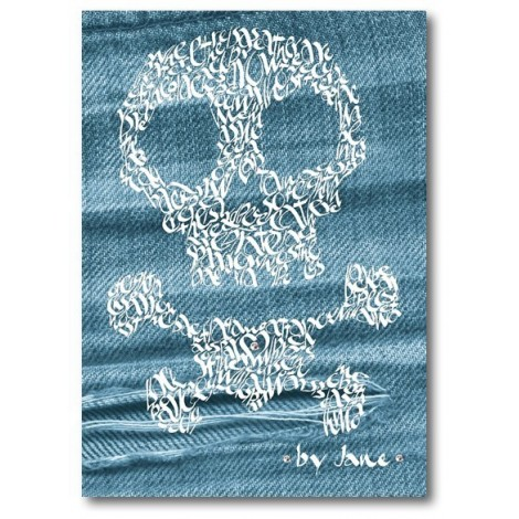 Skull & Crossbones auf Denim