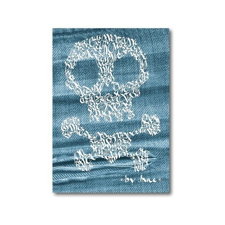 Skull & Crossbones en Denim