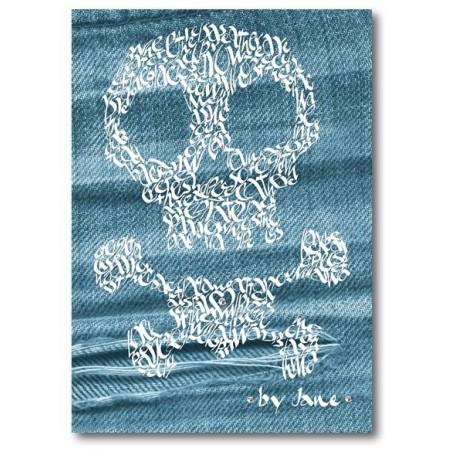 Skull & Crossbones on Denim