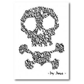 Schädel und gekreuzte Knochen - verschiedene Farben