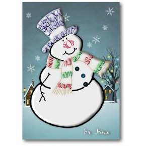 Bonhomme de neige cartes de vœux