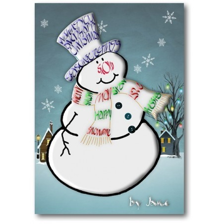 Tarxeta do boneco de neve