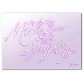 Sympati for din mor