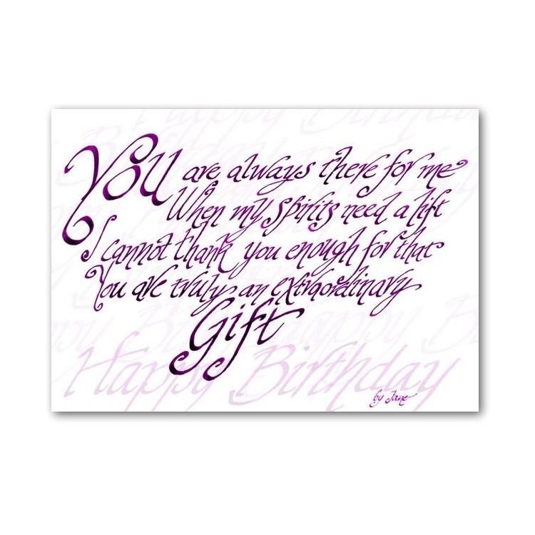 Usted es un verdadero regalo