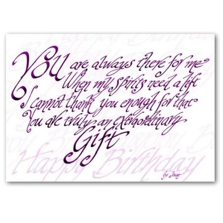 Vostè és un veritable regal