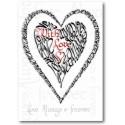 Sant Valentí amb l'amor (Vermell i Negre)