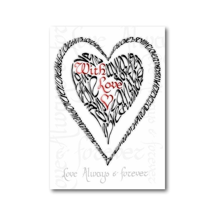 San Valentín con el amor - Rojo y Negro