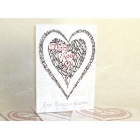 Valentijn met liefde - rood en zwart