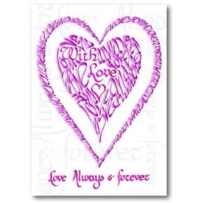Sant Valentí amb amor en rosa