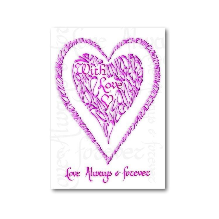 Valentín Con Amor en Rosa