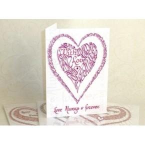 Valentine med kærlighed - lyserød