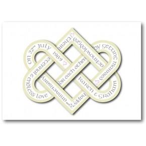 Wedding personalizzato anniversario della carta