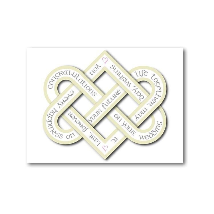 Dag van het huwelijk Knoop van de Liefde Kaart