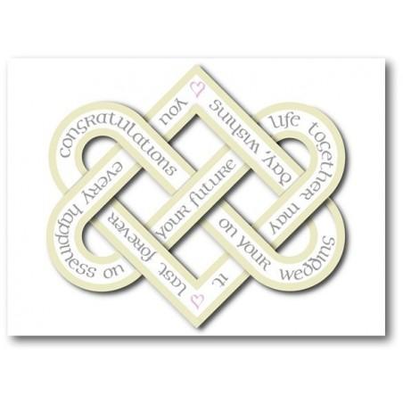Bröllopsdag Kärlek Knot Card