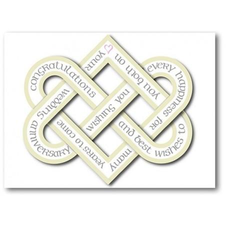 Wedding Anniversary Love Knot Card