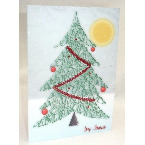 Weihnachtsbaum Kalligraphie-Karte
