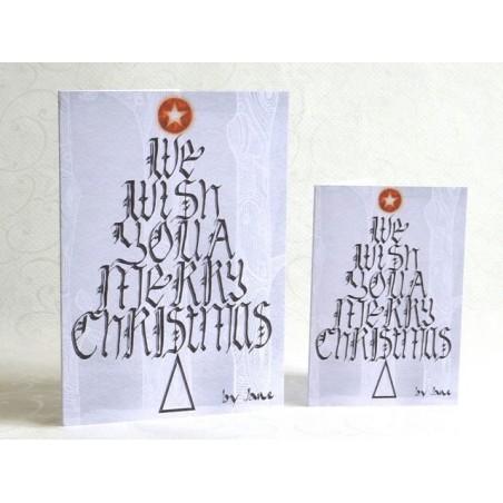 Natale Wishing Tree calligrafico carta