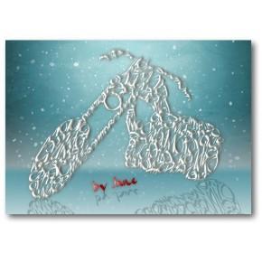 Tarjeta de Navidad Chopper