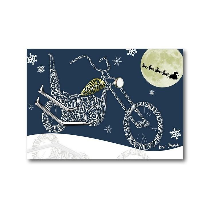 Old School Chopper Christmas Card