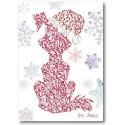 Weihnachtshund Grußkarte