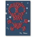 Crani del pirata i targeta de Nadal de la bandera pirata