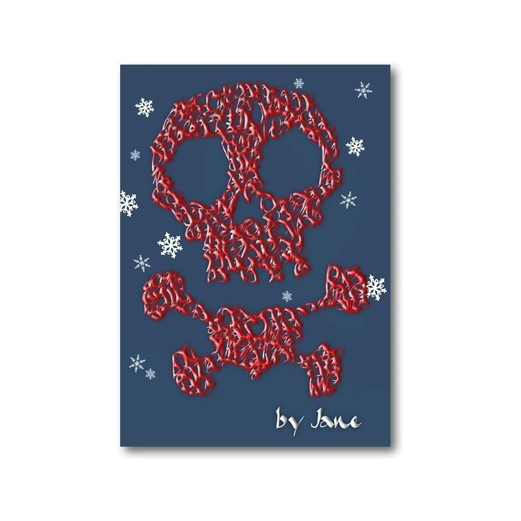 Piratskalle & korsben - Julkort
