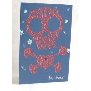 Merirosvon kallo ja sääriluut - joulukortti