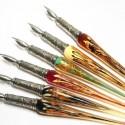 Gold Leaf Glass Kalligrafi Pen & Ink