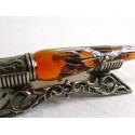Silver Leaf Glas Kalligrafi Pen med penna Rest