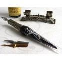 Silver Leaf Glass Kalligraphie Pen-Set mit Stift Rast