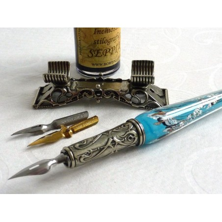 Full de plata de vidre Conjunt de llapis Cal·ligrafia Amb La Ploma Rest