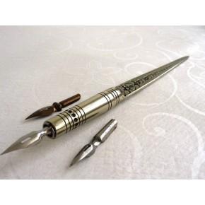 Kalligrafia Dip Pen Set & Kirjeenavaaja