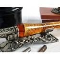 Glass Dip Pen Blotter Inkwell und Pen Ruhe
