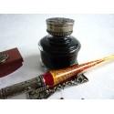 Glass Dip Pen Blotter Tintero y pluma Rest