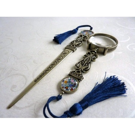 Magnifying Glass & Letter Opener with Murrina