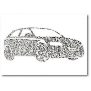 Audi A3 Hälsningskort