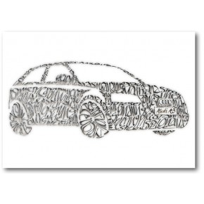 Audi A3 Lykønskningskort