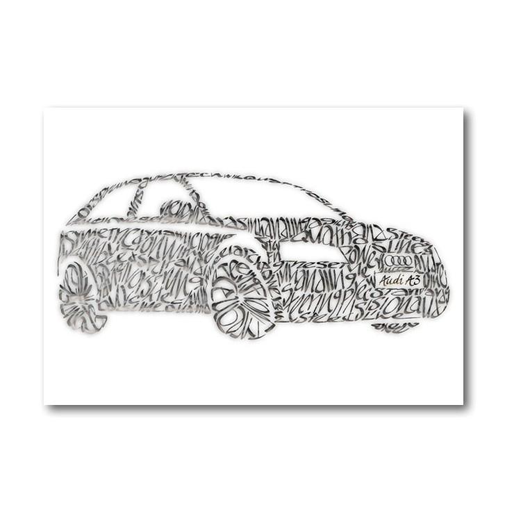 Audi A3 onnittelukortti