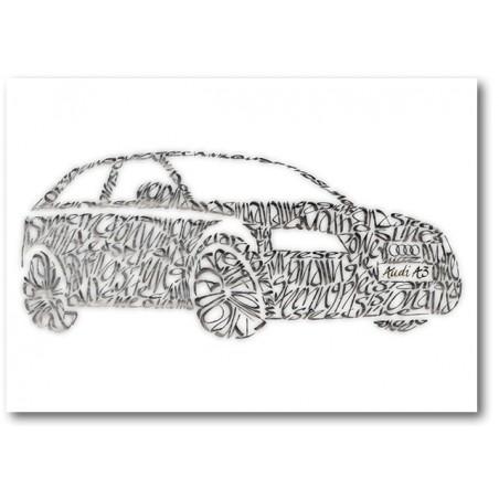 Audi A3 Cartolina di Auguri