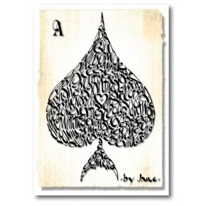 Ace of Spades Lykønskningskort