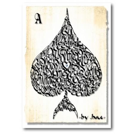 Pik As Grußkarte