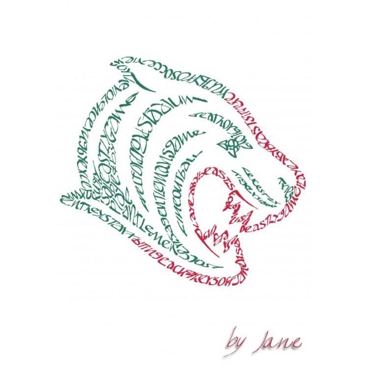 Rugby Club - Leicester Tiger Grußkarte