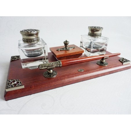 Caligrafía de madeira Set Desk